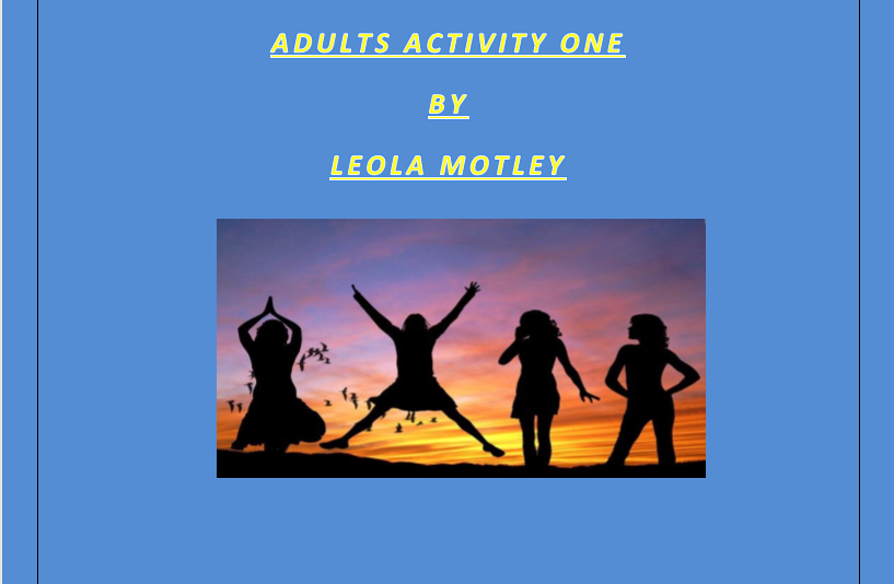 Adults Activity One