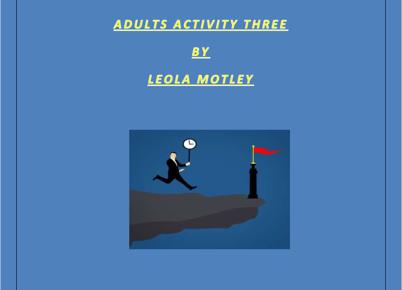 Adult Activity Three