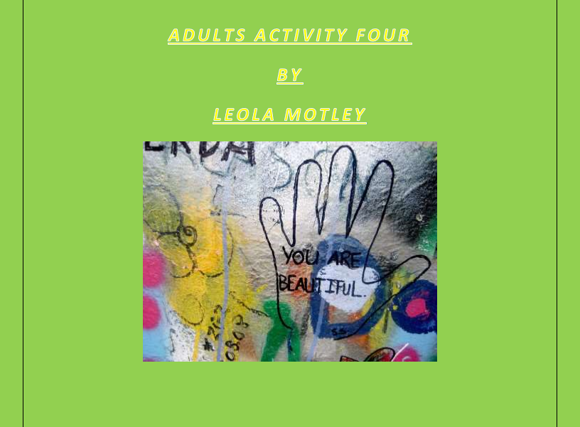 Adult Activity Four